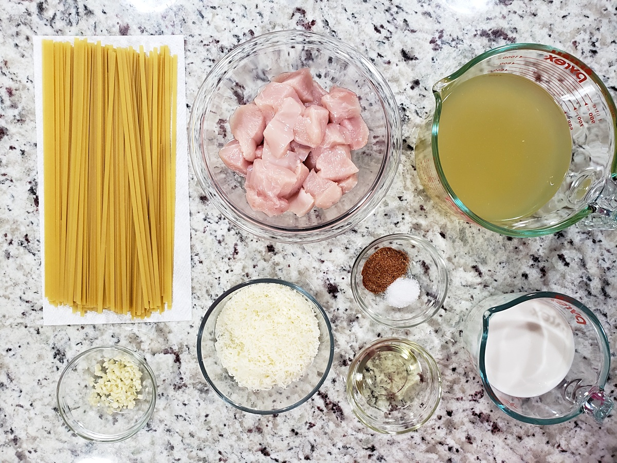Ingredients to make pasta.