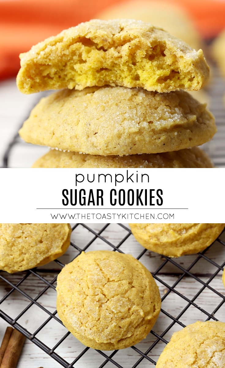 Pumpkin Sugar Cookies by The Toasty Kitchen