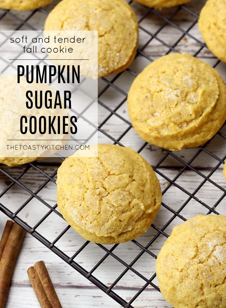Pumpkin Sugar Cookies by The Toasty Kitchen