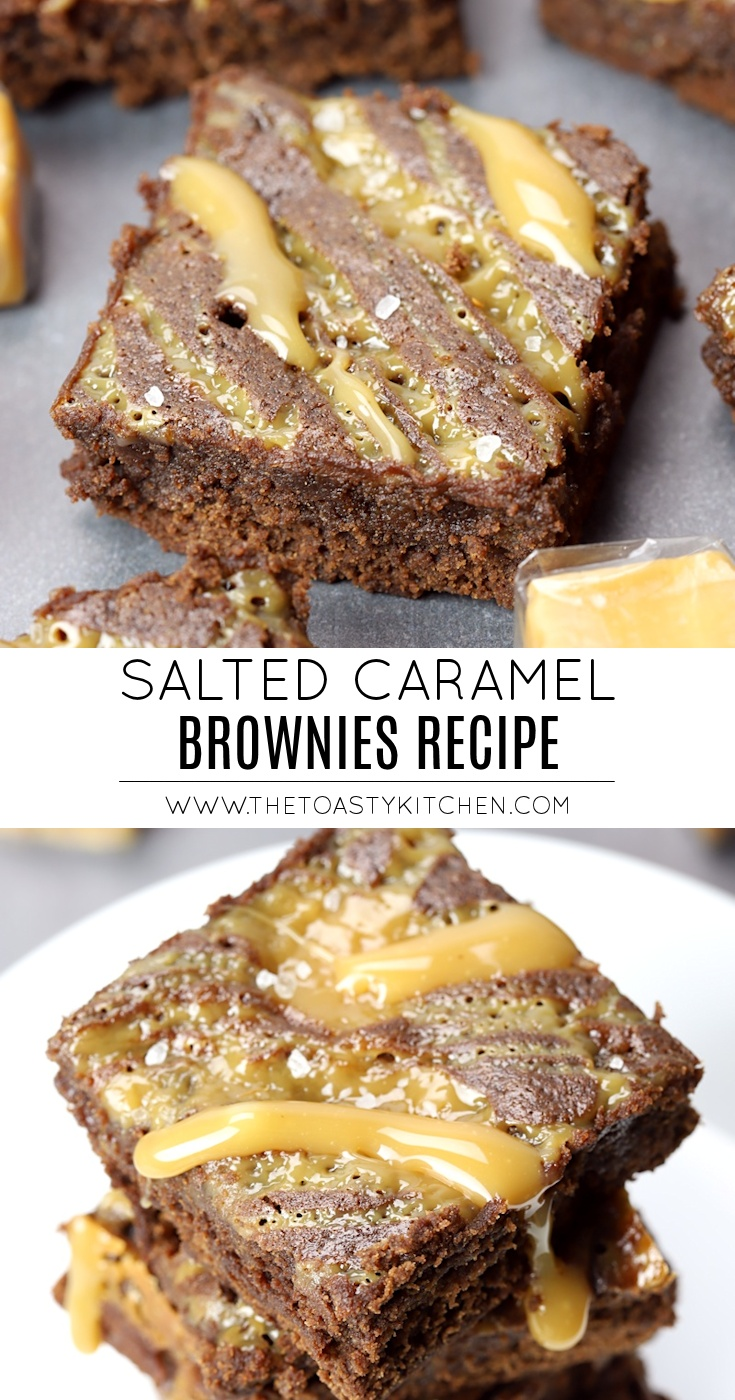 Salted Caramel Brownies by The Toasty Kitchen
