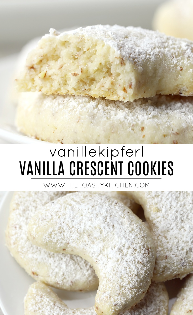 Vanillekipferl - Vanilla Crescent Cookies by The Toasty Kitchen