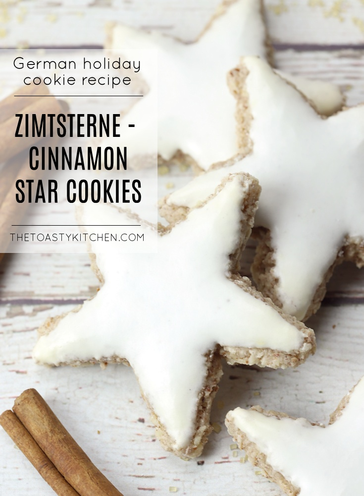 Zimtsterne - German Cinnamon Star Cookies by The Toasty Kitchen