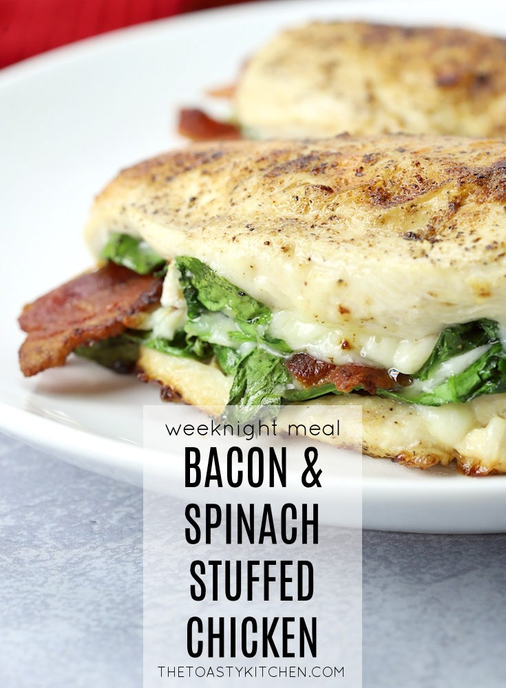 Bacon Spinach Stuffed Chicken by The Toasty Kitchen