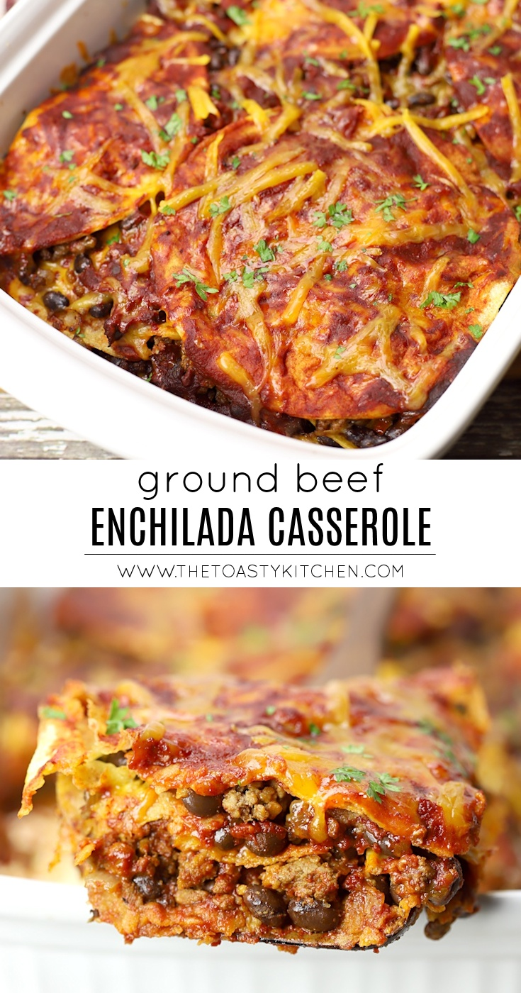 Beef Enchilada Casserole by The Toasty Kitchen