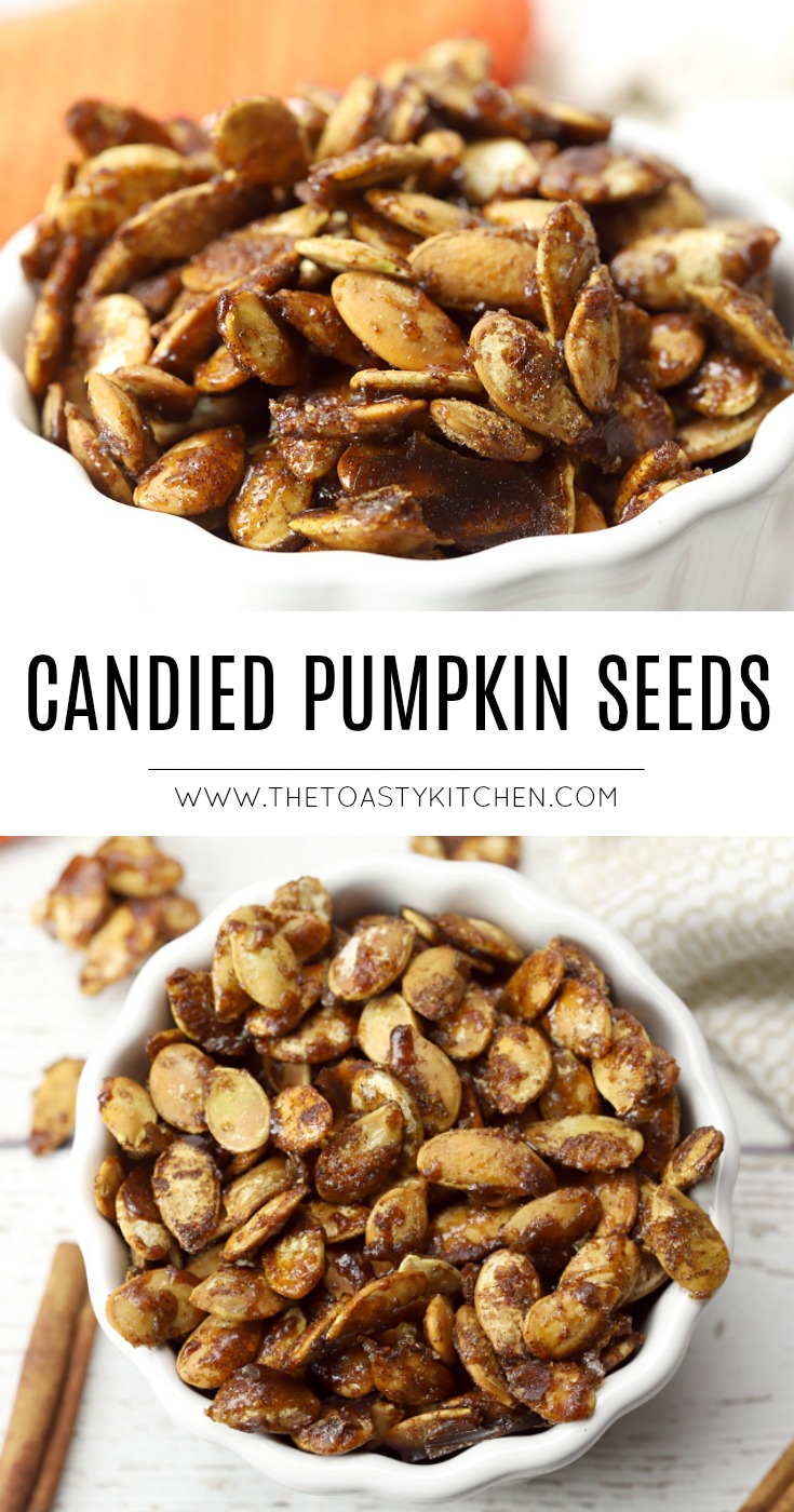 Candied Pumpkin Seeds by The Toasty Kitchen