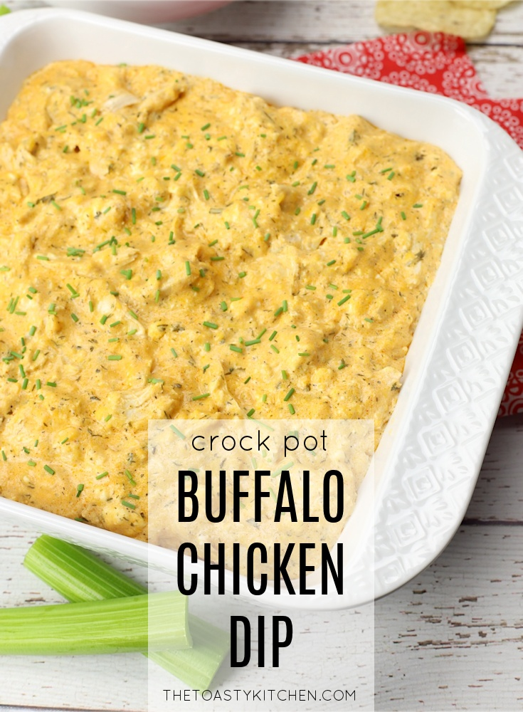 Crock Pot Buffalo Chicken Dip by The Toasty Kitchen