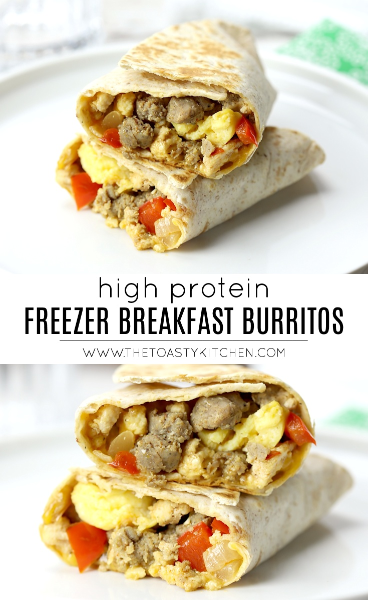 Freezer Breakfast Burritos by The Toasty Kitchen