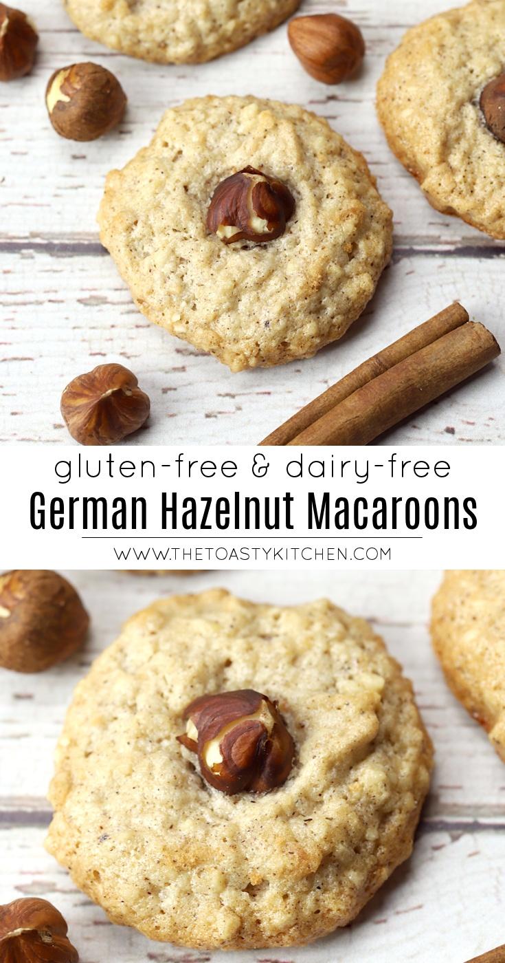 Haselnussmakronen - German Hazelnut Macaroons by The Toasty Kitchen