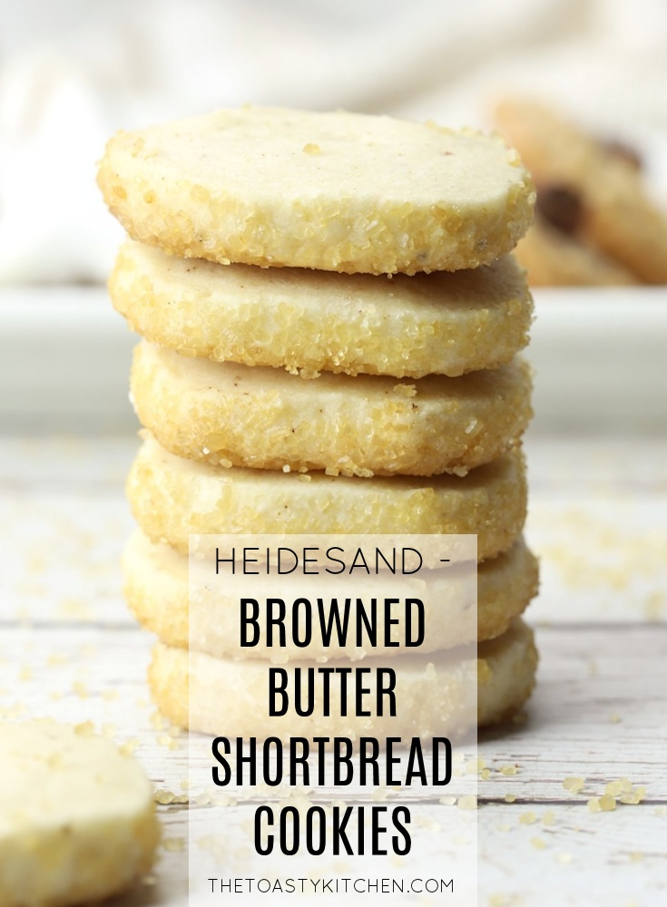 Heidesand - German Browned Butter Shortbread Cookies by The Toasty Kitchen