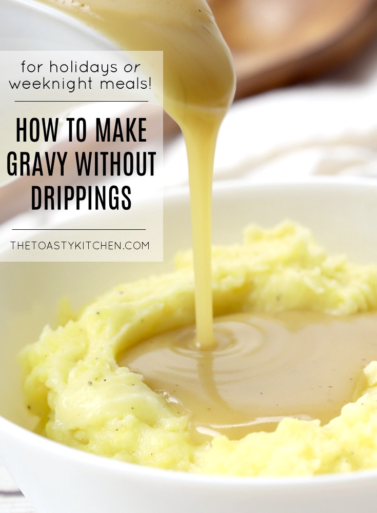 How to make gravy without drippings recipe.