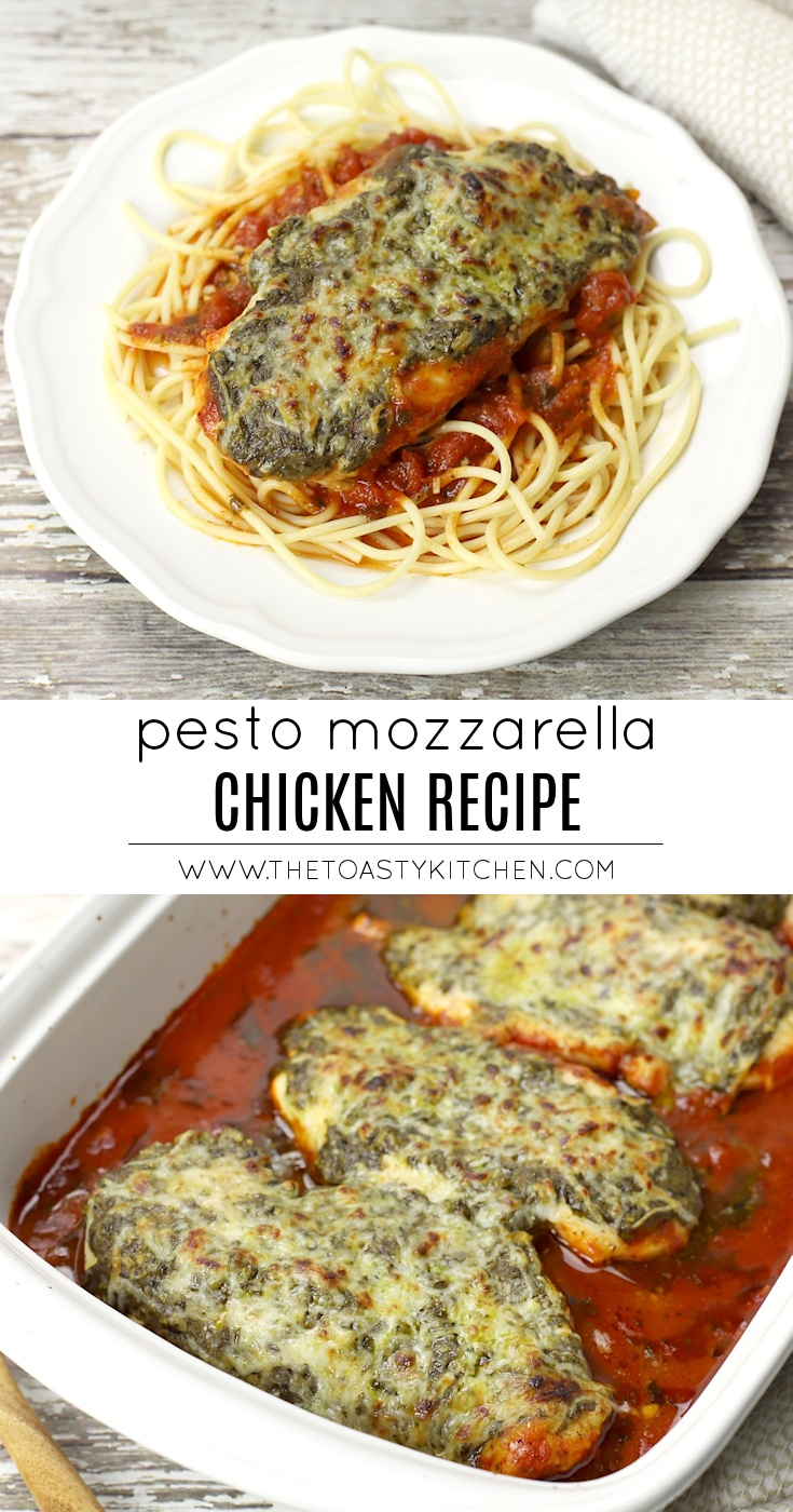 Pesto Mozzarella Chicken by The Toasty Kitchen