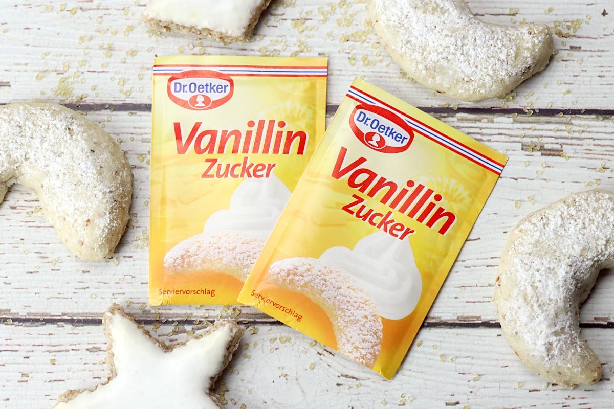 Packets of vanilla sugar from Germany.