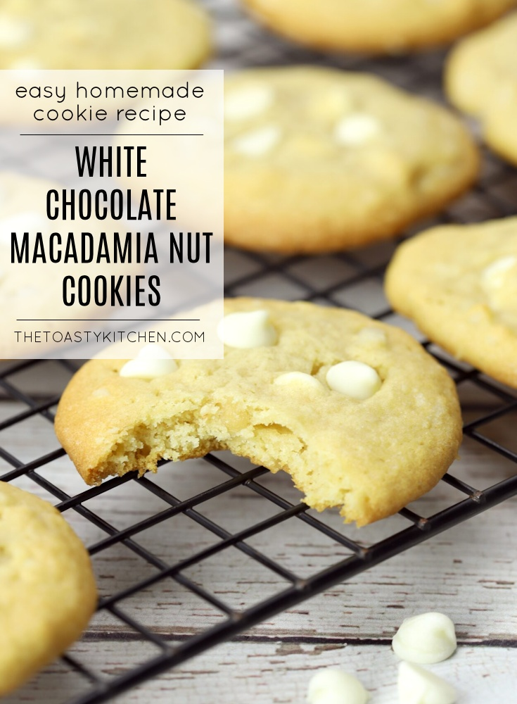 White Chocolate Macadamia Nut Cookies by The Toasty Kitchen