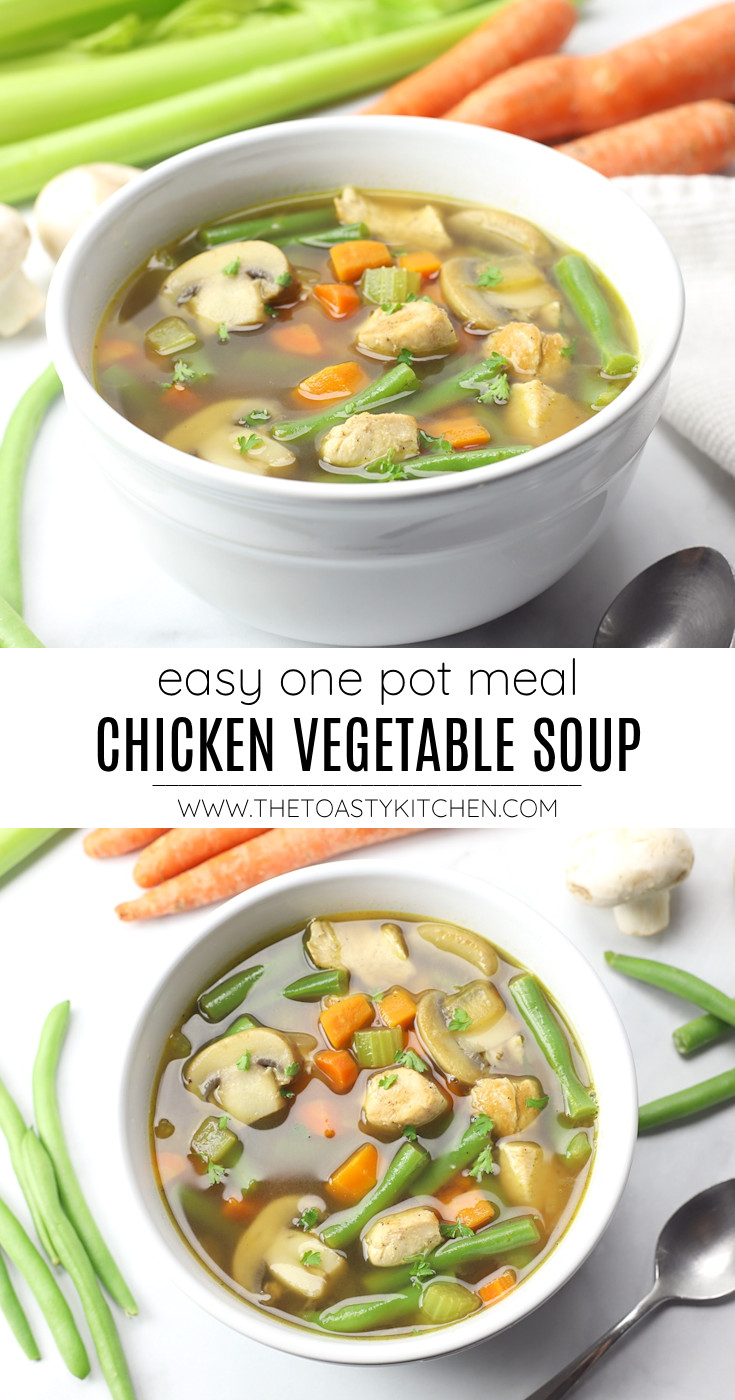Chicken vegetable soup recipe.