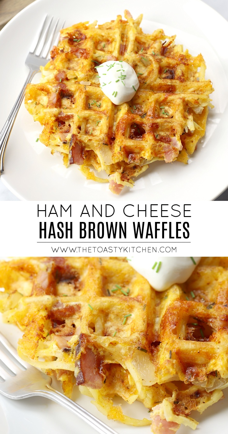 Ham & Cheese Hash Brown Waffles by The Toasty Kitchen