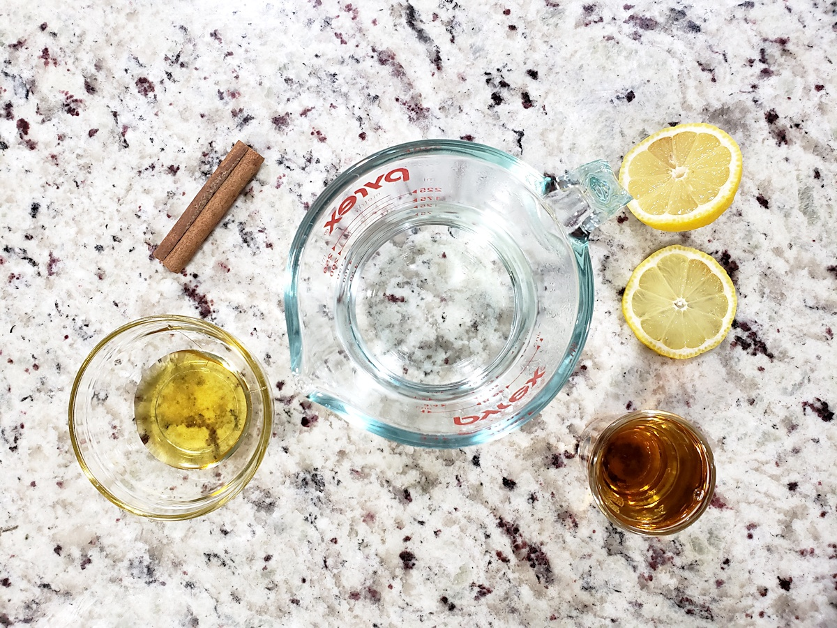 Ingredients for a hot toddy.
