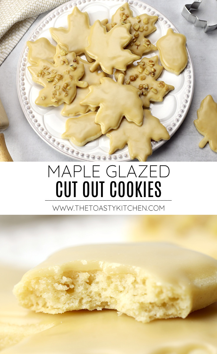 Maple glazed cut out cookies recipe.