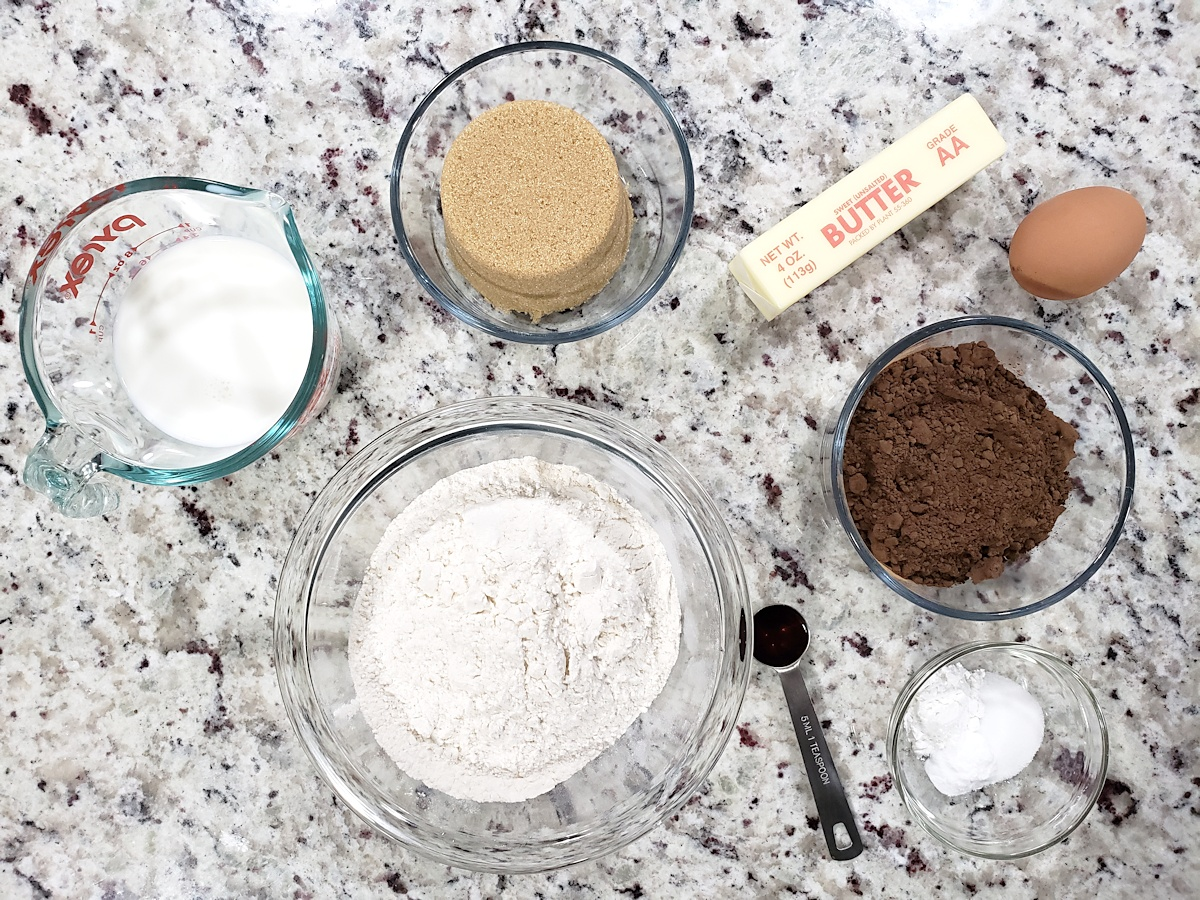 Ingredients for whoopie pies.