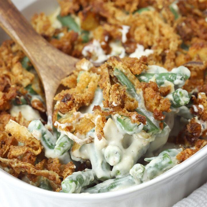 Green bean casserole from scratch recipe.