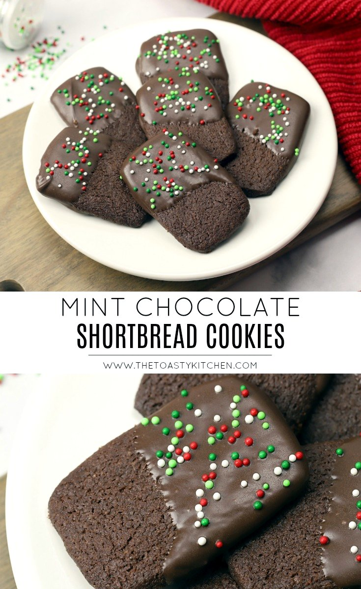 Mint Chocolate Shortbread Cookies by The Toasty Kitchen