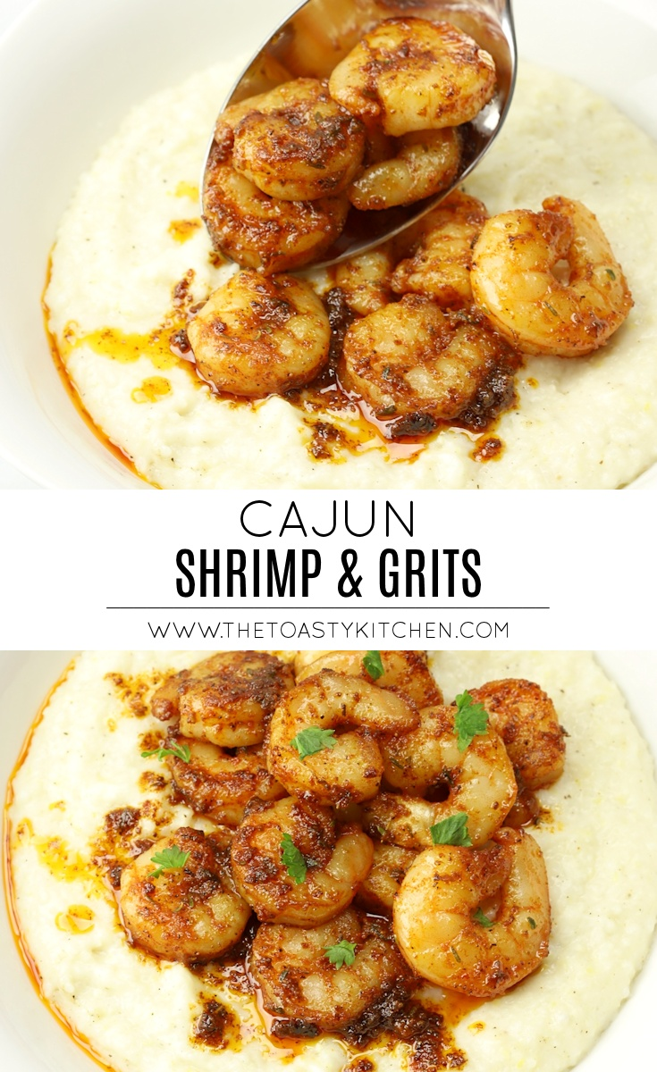 Cajun Shrimp & Grits by The Toasty Kitchen