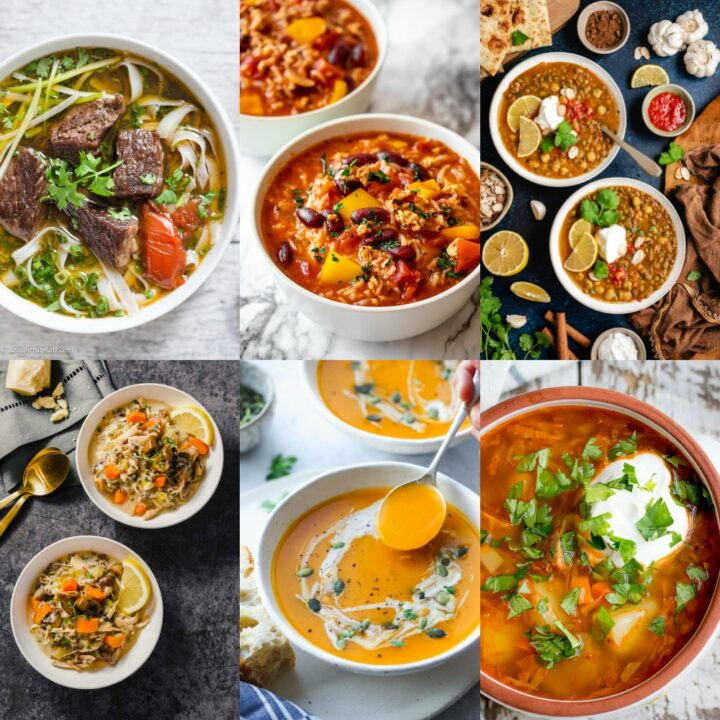 Hearty winter soups.