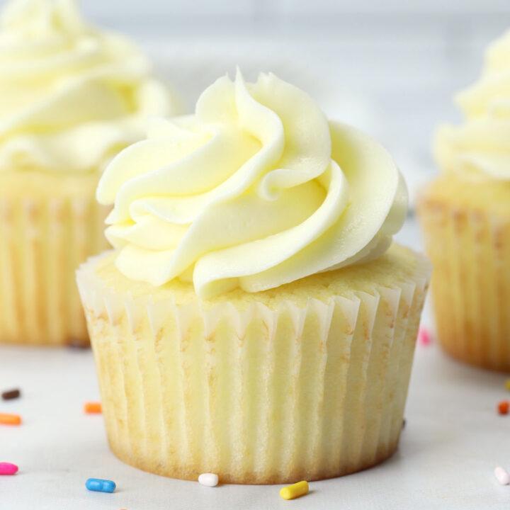 Vanilla cupcake recipe.