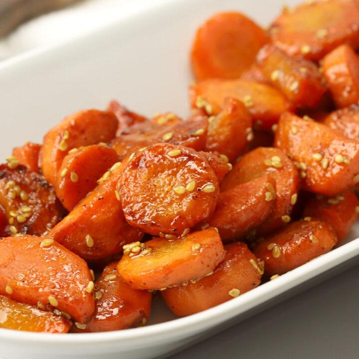 Honey glazed sesame carrots recipe.