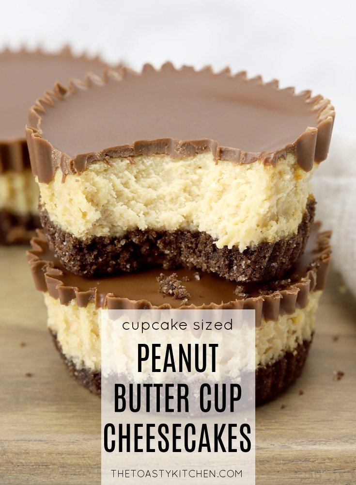 Mini Peanut Butter Cup Cheesecakes by The Toasty Kitchen