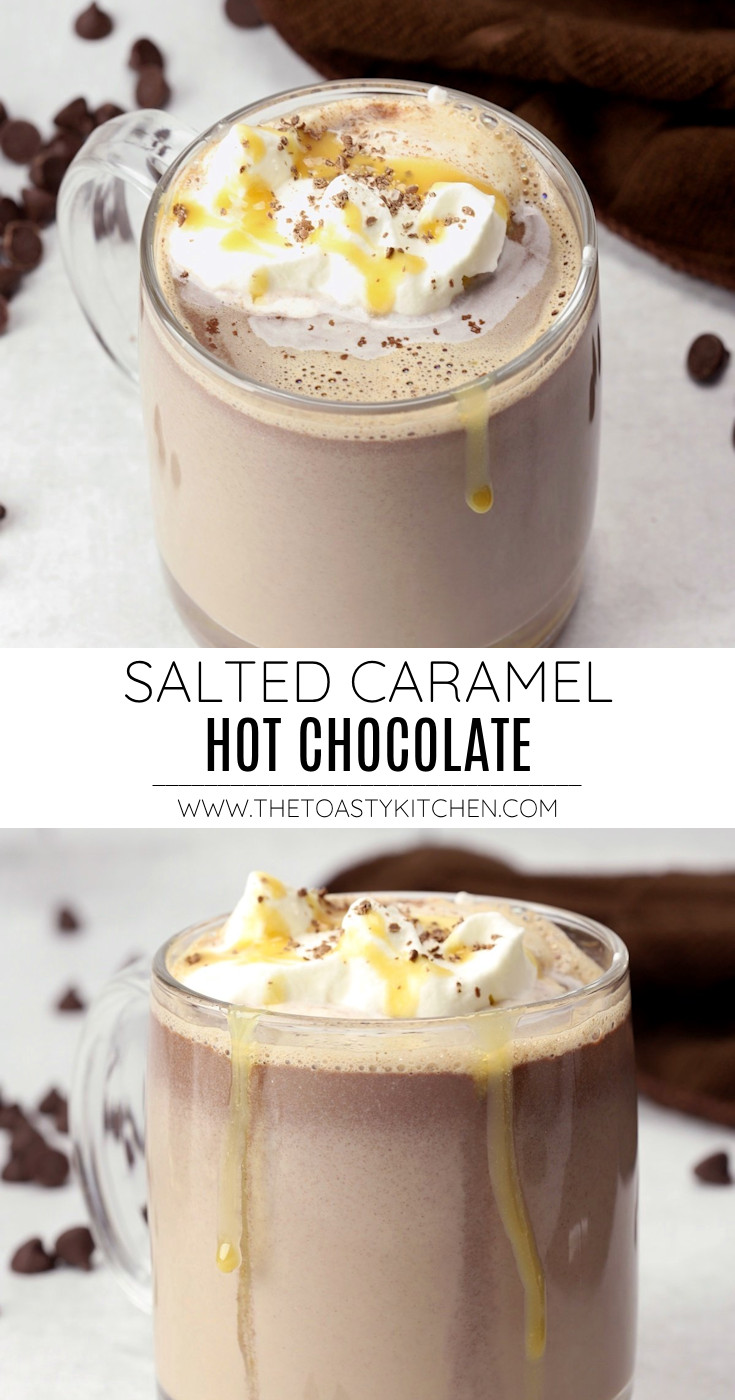 Salted caramel hot chocolate recipe.