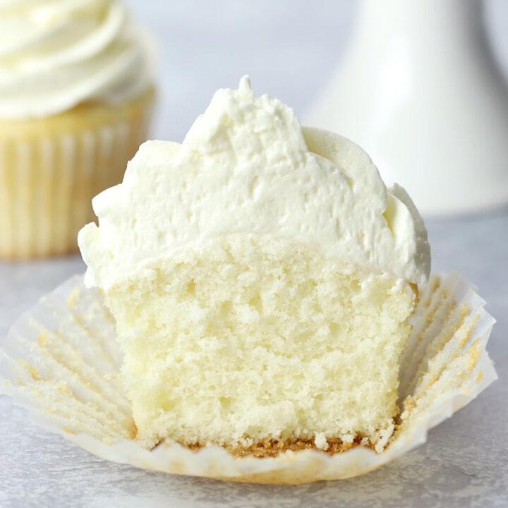 White cupcake recipe.