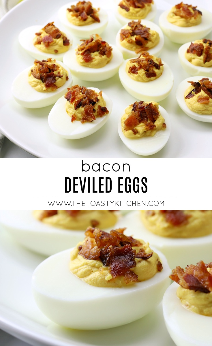 Bacon Deviled Eggs by The Toasty Kitchen