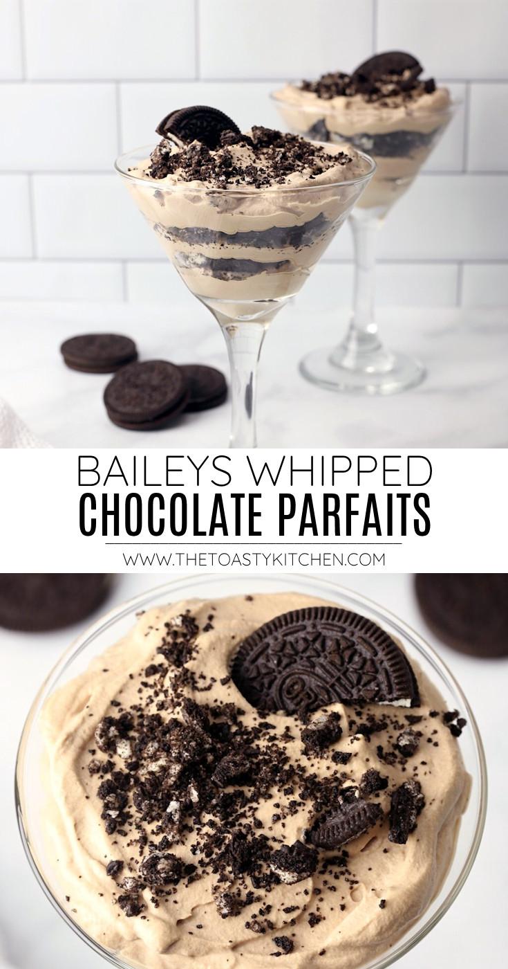 Baileys whipped chocolate parfaits recipe.