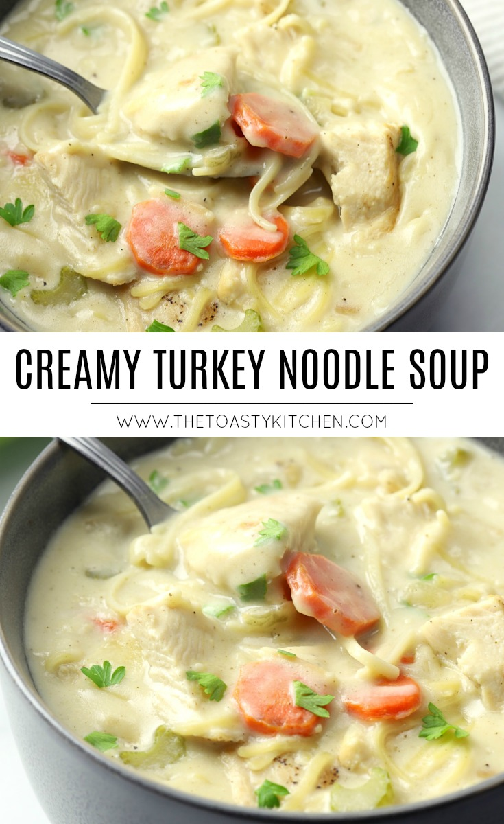 Creamy Turkey Noodle Soup by The Toasty Kitchen