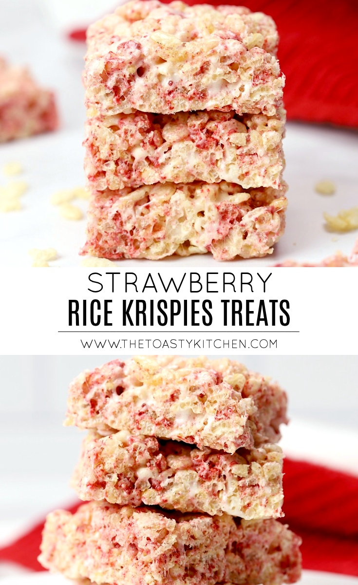 Strawberry Rice Krispies Treats by The Toasty Kitchen