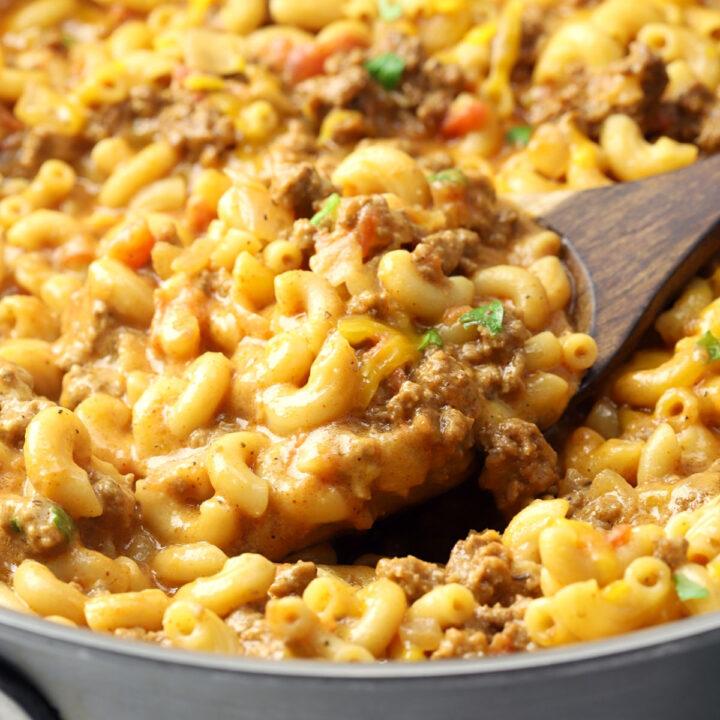 Cheeseburger macaroni skillet recipe.