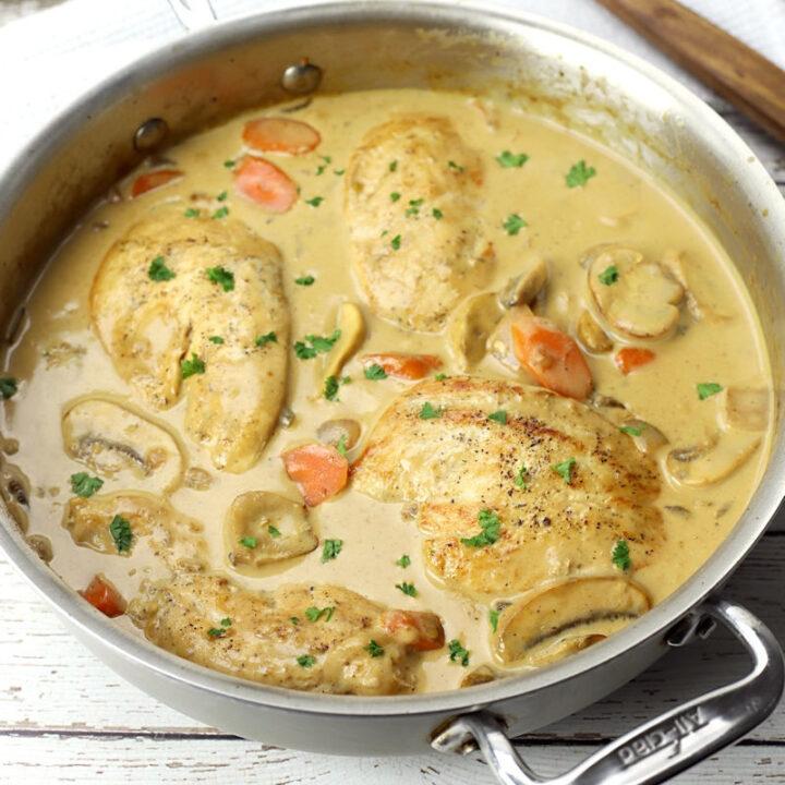 Chicken fricassee recipe.