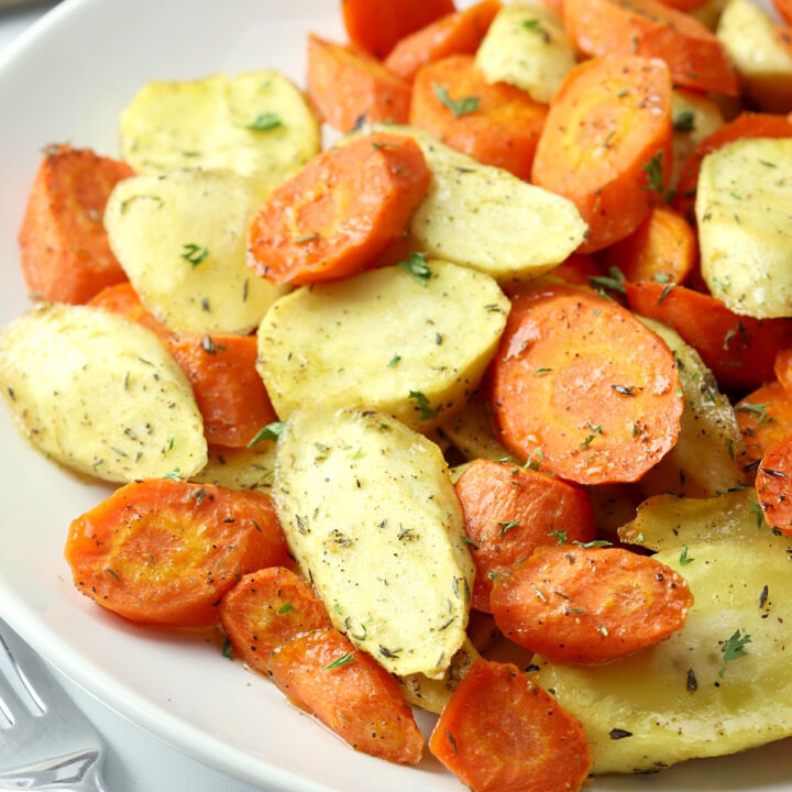 Honey roasted carrots and parsnips recipe.