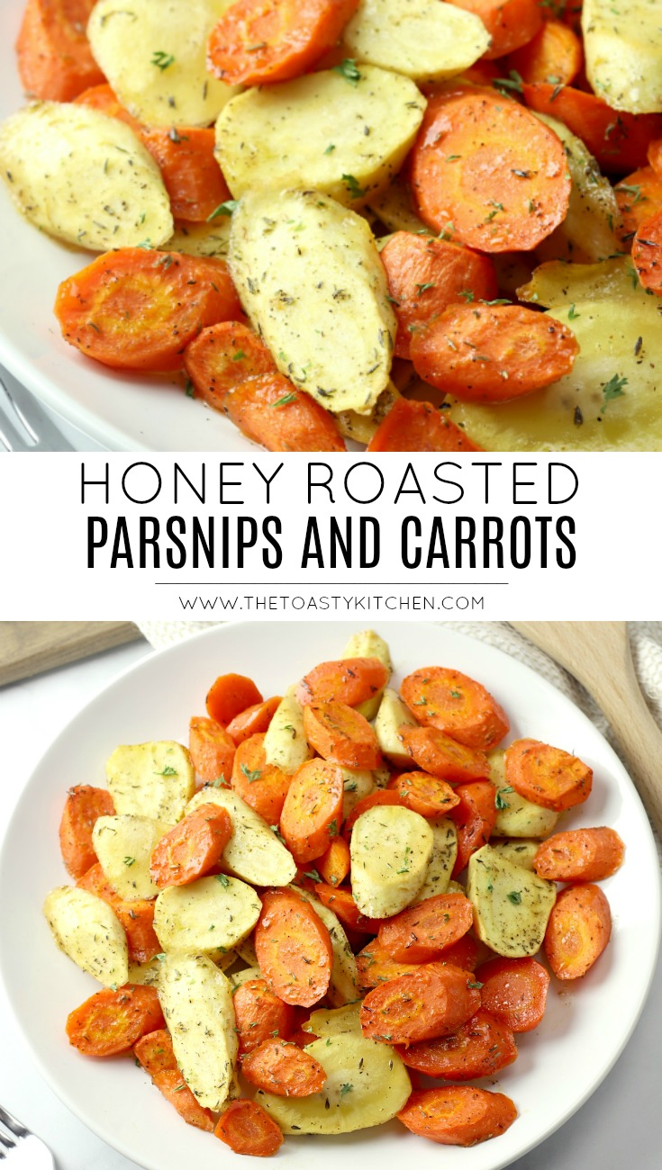 Honey Roasted Parsnips and Carrots by The Toasty Kitchen