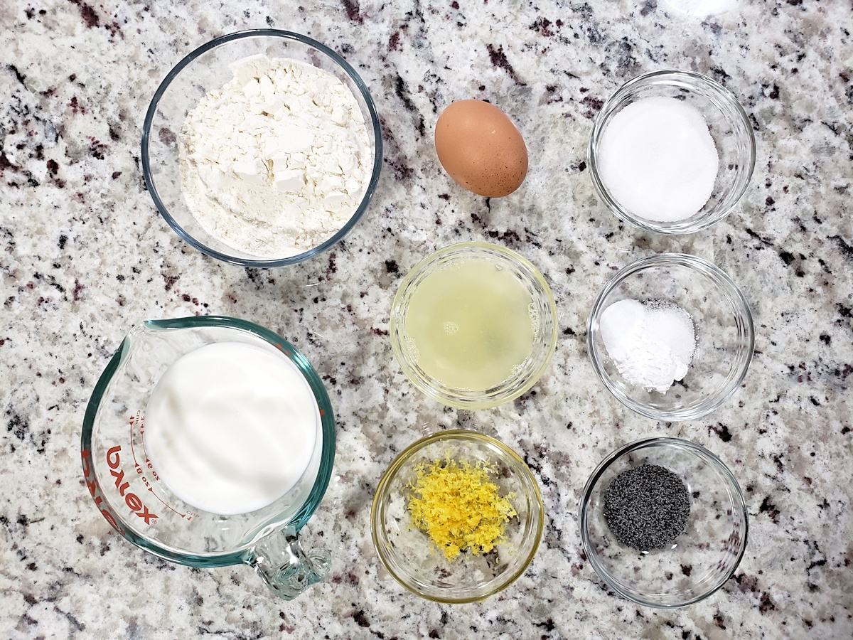 Ingredients to make pancakes.