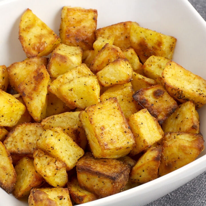 Easy roasted potatoes recipe.