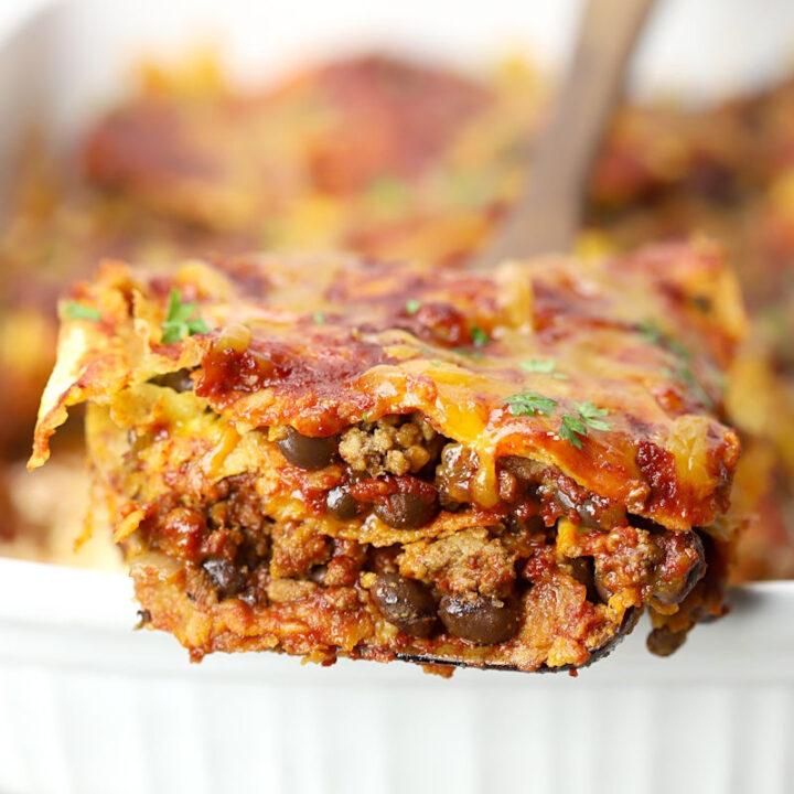 Beef enchilada casserole recipe.