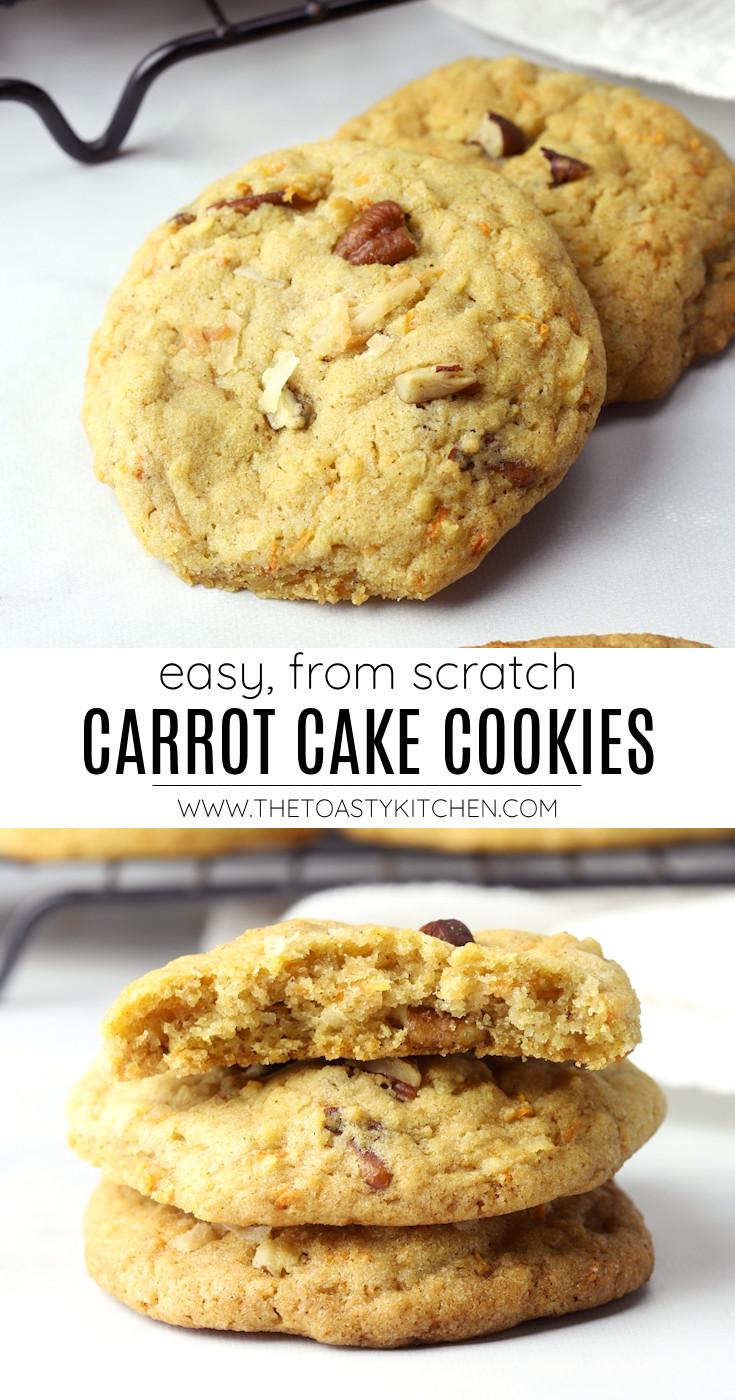 Carrot cake cookies recipe.