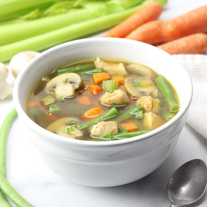 Chicken vegetable soup recipe.