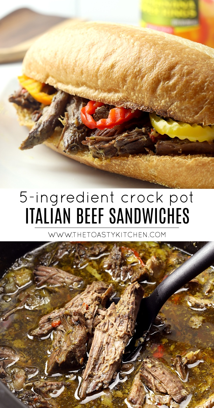 Crock Pot Italian Beef Sandwiches by The Toasty Kitchen