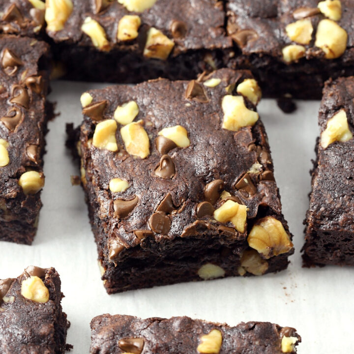 Dark chocolate walnut brownies recipe.