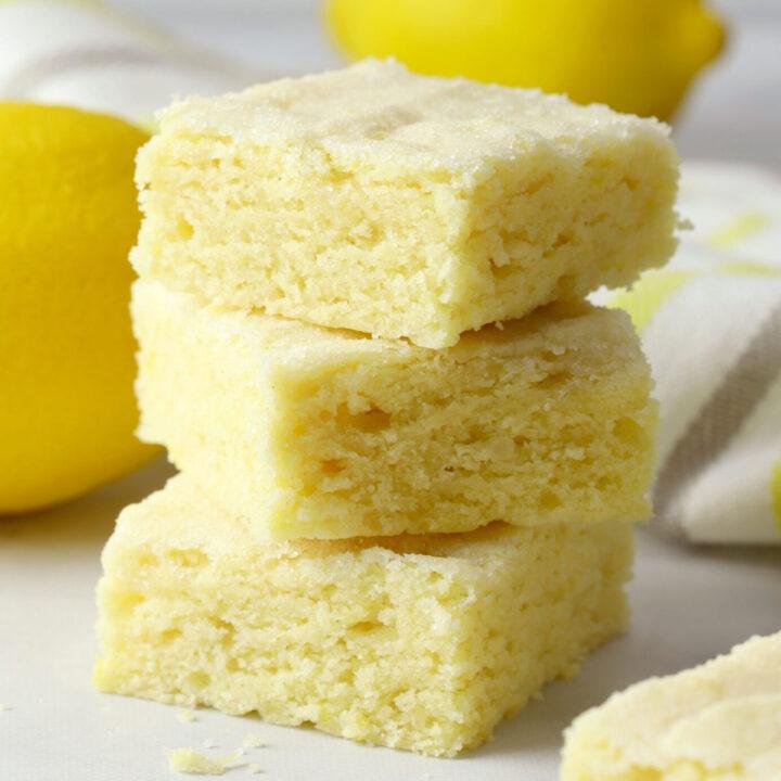 Lemon sugar cookie bars recipe.