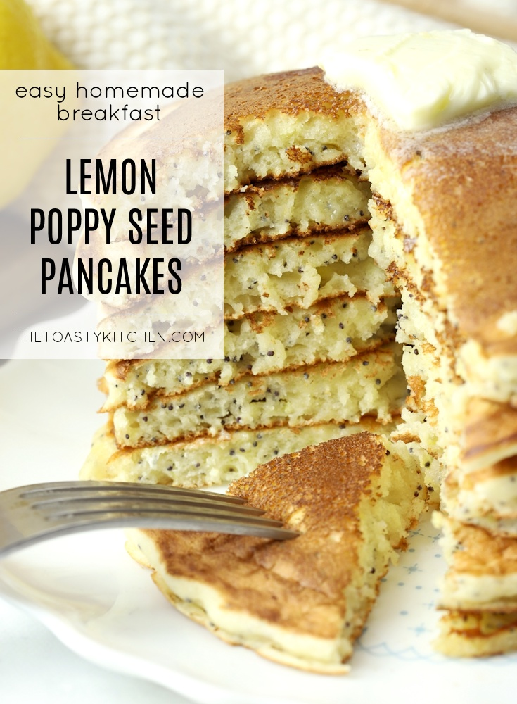 Lemon Poppy Seed Pancakes by The Toasty Kitchen