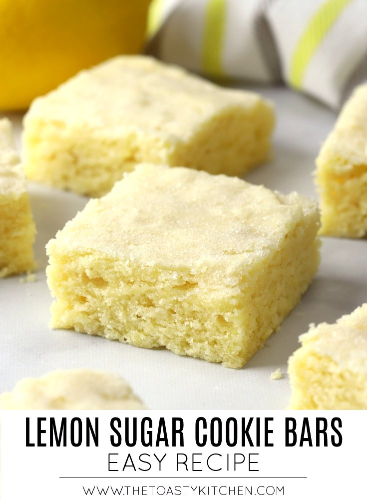 Lemon Sugar Cookie Bars by The Toasty Kitchen