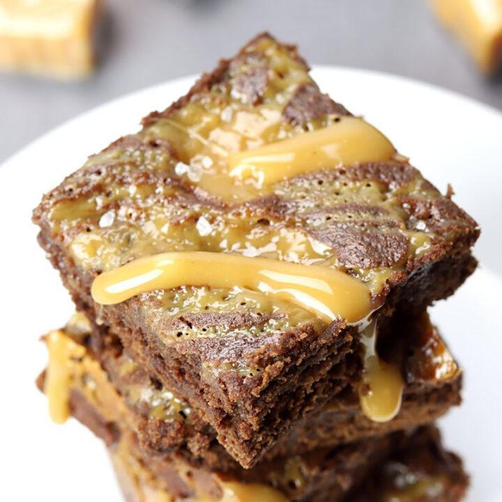 Salted caramel brownies recipe.
